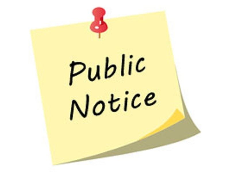 Public-Notice note pad