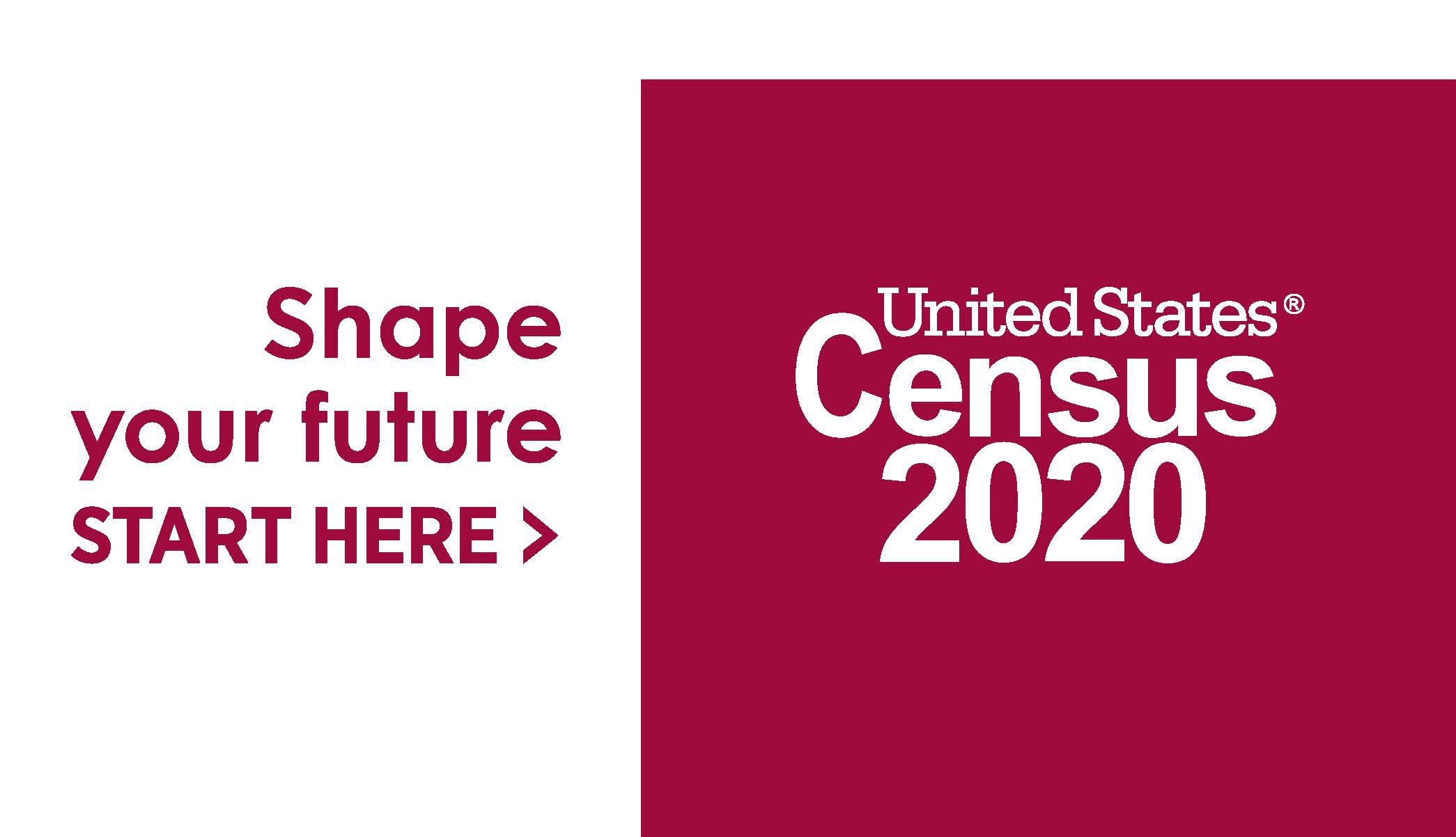 2020 Logo_Census_IN BOX_ Shape Your Future_Red_Preferred