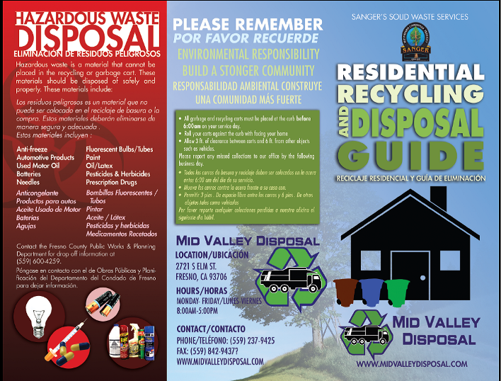 Residential Recycling Brochure - Page 1 (PNG)